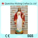 ホーム装飾のカスタム樹脂のイエス・キリストの彫像