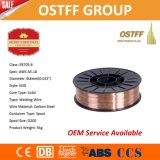 0.6mm X 1kgのプラスチックスプールの銅上塗を施してある固体ミグ溶接ワイヤー(G3Si1/SG2)