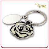 Trousseau de clés doux en métal d'émail de forme faite sur commande de fleur