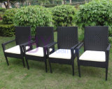 Мебель штанги ротанга PE обедая комплект мебели
