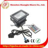 luz de inundación de 10W LED RGB con el regulador