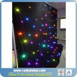 La cortina Twinkling de las estrellas LED de la cortina de gota de la estrella del LED LED enciende la luz blanca del contexto de la boda