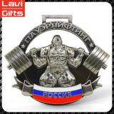 Medalla de encargo confiable del levantamiento de pesas del precio de fábrica de la calidad