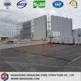 Edifício estrutural de aço claro Prefab galvanizado/Worarehouse