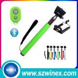 Bâton Integrated de Selfie de fil sans fil d'appareil-photo de téléphone mobile de qualité