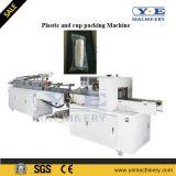 Copos plásticos que fazem a máquina com empilhador automático