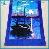Toalla de playa de encargo de la pintura de la impresión del terciopelo colorido del algodón