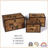 Выдержанная античная коробка подарка коробки хранения с естественным цветом