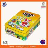 Metallspiel-Zinn-Kasten für quadratischen Plätzchen-Zinn-Kasten