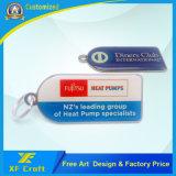 Silk-Screen su ordinazione di prezzi di fabbrica entrambe anello chiave del metallo del lato per la promozione (XF-KC15)