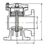Válvula de controle da altura do ângulo de H142X