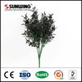 Muro folha da planta roxo artificial para decoração Landscape