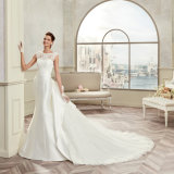 Выполненное на заказ платье венчания 2017 Mermaid Appliqus шнурка Tulle сатинировки шеи ветроуловителя