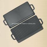 Preseasonedのコーティングの鋳鉄のグリドル鍋はLFGBのセリウム、FDA、SGSによって承認した