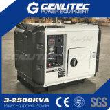 gerador 5.5kw/6.0kw Diesel silencioso portátil de refrigeração ar (DG7500SE com DE188FAE)
