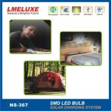 Sistema de iluminación solar de aluminio de la carrocería de materiales con la luz del LED