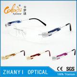 Het lichtgewicht Randloze Frame van de Glazen van Eyewear van het Oogglas van het Titanium Optische met Scharnier (5003) - C