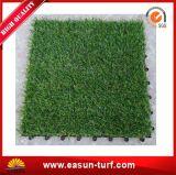 Qualität, die künstliche Gras-Fliese für Hauptdekoration und DIY blockiert