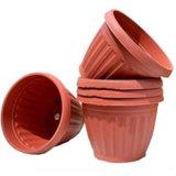 Plantador de flores de plástico personalizado OEM para decoração de jardim e casa