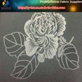 Ткань жаккарда цветка полиэфира, жаккард тафты Twill на подкладка пальто (18)
