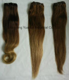 人間の毛髪の拡張(セットされる100g~270g完全なヘッド)の三重のWeftクリップ