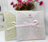Cartão de convite de casamento de design oco de alta qualidade Customzied
