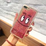 iPhone 7のための液体の砂の漫画プリントセルまたは携帯電話のケース