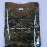 T-shirt fait sur commande de Camo de qualité avec le collet rond