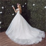 Robe de mariage gracieuse de robe de princesse bille de fleur de lacet (Dream-100071)