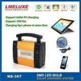 Sistema di illuminazione solare di alluminio del corpo di materiali con l'indicatore luminoso del LED