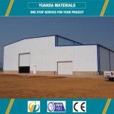 Estructura de azotea metálica del almacén prefabricado del Godown del taller de la estructura de acero