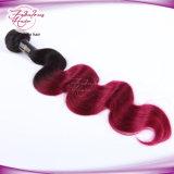 Do cabelo brasileiro de Ombre do Virgin cabelo 100% de trama da onda do corpo da cor 1b/99j