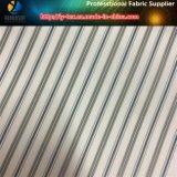 Tela tingida do forro da luva da listra do fio de poliéster para o terno/vestuário/revestimento (S128.149)