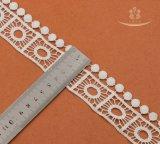 Ткань шнурка бархата большого Cutwork уравновешивания Бельгии азиатского Allover Beaded эластичного африканская