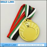Médaillon olympique de coutume de pièce de monnaie de récompense de sports de médaille d'or de gravure de torche