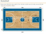 Kurbelgehäuse-Belüftung Sports Bodenbelag für Innenbasketball-Holz Pattern-6.5mm starkes Hj6813