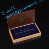 Venta caliente personalizado caja de madera de embalaje de la pluma