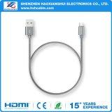 Aluminiumshell-schnelles aufladennylonmikro/für iPhone Synchronisierungs-Kabel
