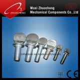 Vis de pouce moletée galvanisée d'acier du carbone de fabrication de la Chine