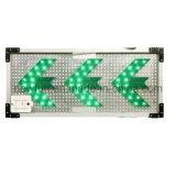Segnale stradale solare di senso della scheda della freccia sinistra del LED