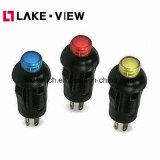 Interruttore di pulsante illuminato serie di Ple con la protezione rotonda di 8mm