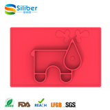 Stuoia animale d'alimentazione antisdrucciolevole del bambino popolare di disegno di approvazione della FDA