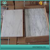 Controsoffitto bianco statuario e mattonelle delle lastre di marmo