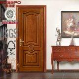Intérieur découpé classique de porte en bois solide pour la villa d'appartement (GSP2-018)