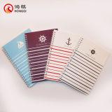 Cuaderno espiral de la cubierta suave