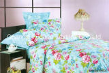 Bunte Blumen-Muster BambusMicrofiber Bett-Blatt-gesetzte Bettwäsche stellte für Haus ein