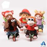 아이를 위한 최신 판매 주문 견면 벨벳 Pug 전기 걷는 장난감