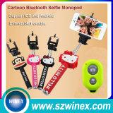 Bâton sans fil se pliant de Selfie Monopod avec le miroir de Rearview