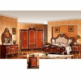 أثر قديم غرفة نوم أثاث لازم مع ملك [بد] وخزانة ثوب ([و811ب])