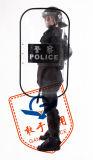Impato elevado - o uniforme resistente da polícia protege o corpo cheio flexível